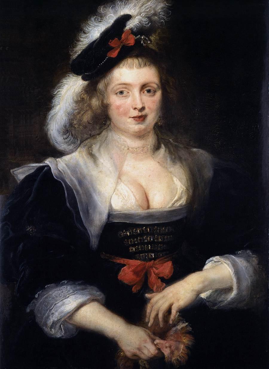 Pierre Paul Rubens, Hélène Fourment retirant son gant, vers 1632