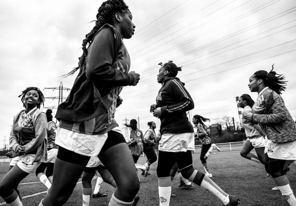 """Les rugbywomen"" de Camilo León-Quijano"