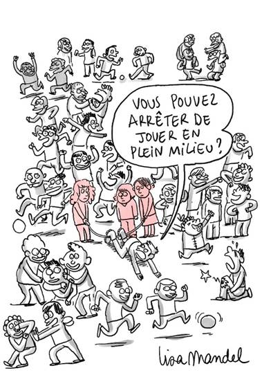 Dessin de Lisa Mandel illustrant la 4e Consultation nationale de l'Unicef